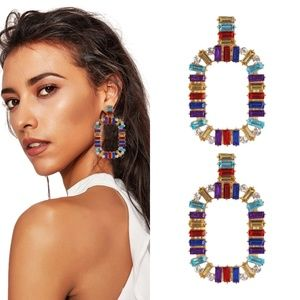 Colorful Square Earrings